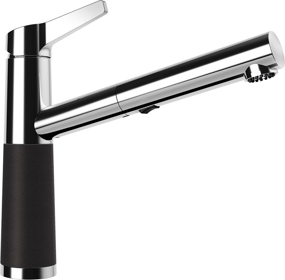 Schock SC-510 Gránit Csaptelep Nero Cristalite Kihúzható Zuhanyfejjel