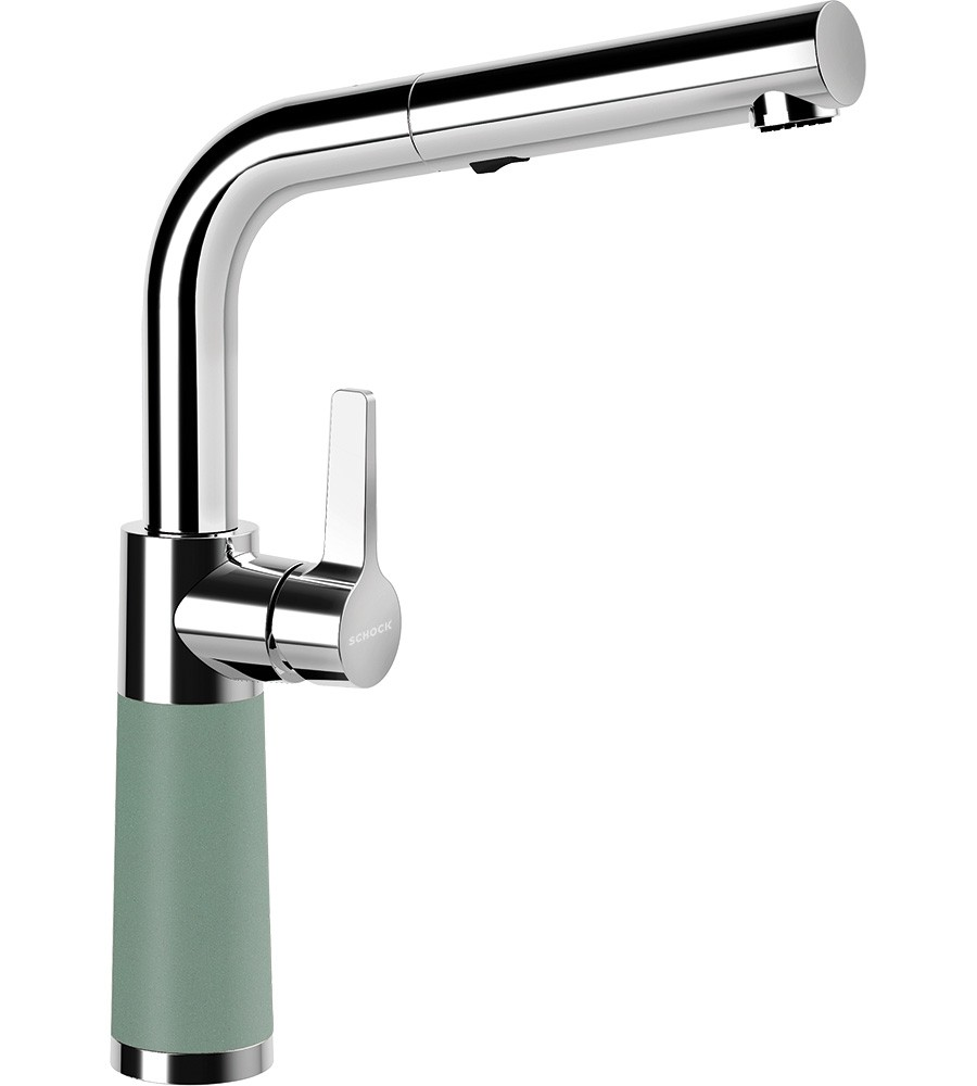 Schock SC-540 Gránit Csaptelep Sage Cristalite Kihúzható Zuhanyfejjel