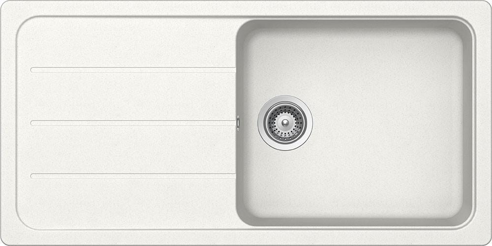 Schock Formhaus D-100L Gránit Mosogató 1000 x 500 mm Alpina Cristalite