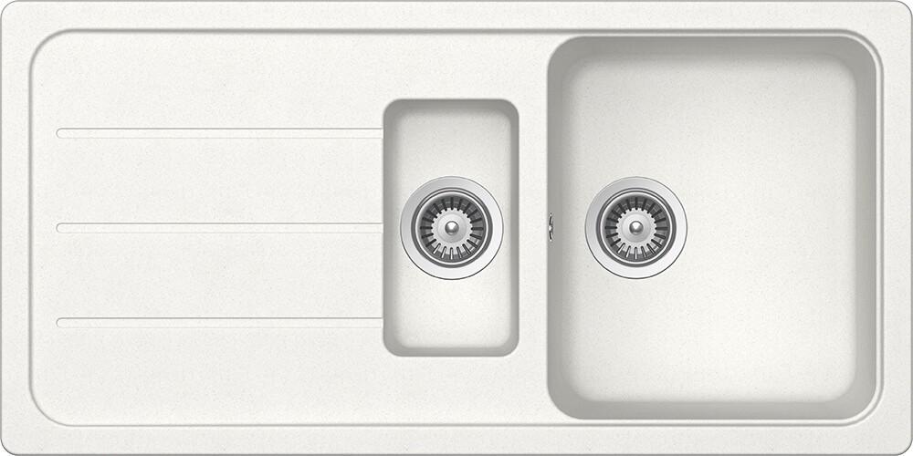Schock Formhaus D-150L Gránit Mosogató 1000 x 500 mm Alpina Cristalite