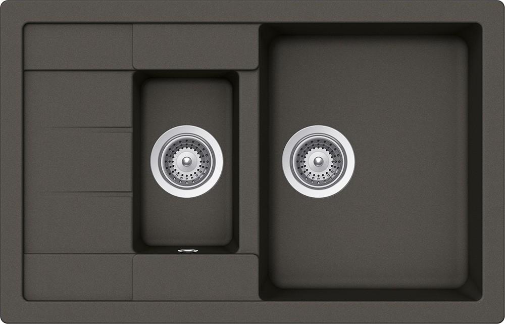 Schock Manhattan D-150S Gránit Mosogató 780 x 500 mm Asphalt Cristalite