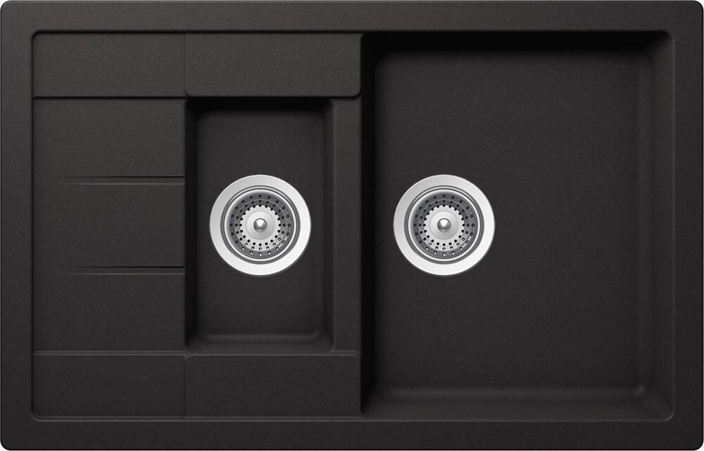 Schock Manhattan D-150S Gránit Mosogató 780 x 500 mm Nero Cristalite