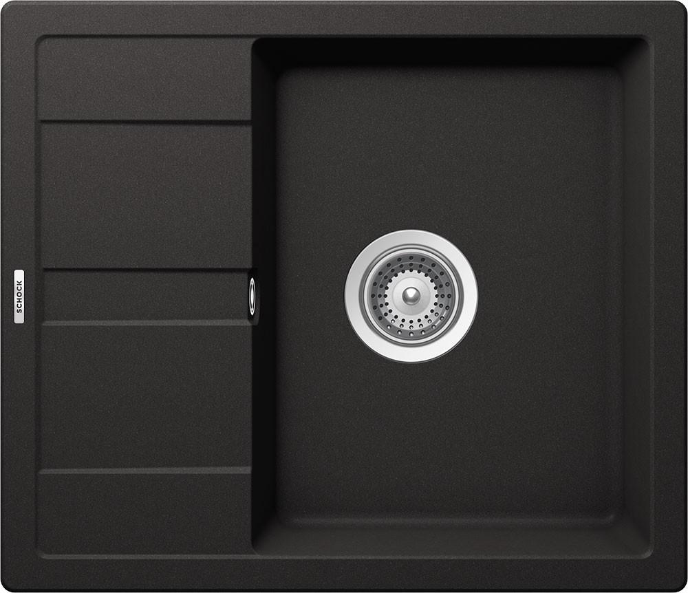 Schock Ronda D-100 Gránit Mosogató 580 x 500 mm Nero Cristalite