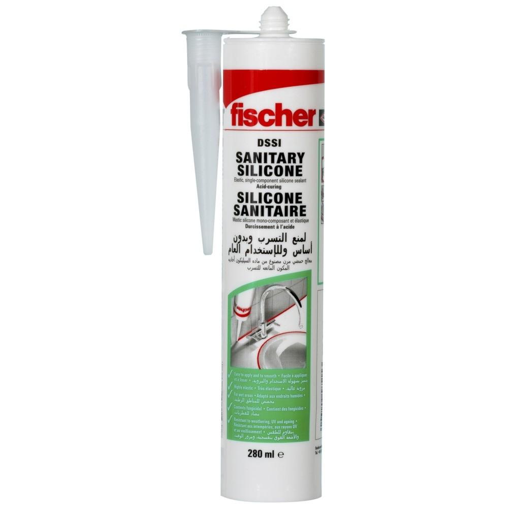 Fischer szaniter szilikon DSSI 280 ml áttetsző