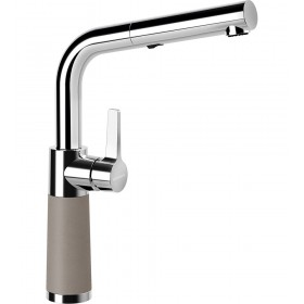 Schock SC-540 Gránit Csaptelep Beton Cristalite Kihúzható Zuhanyfejjel