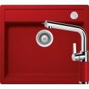 Schock Mono N-100 Mosogató 570 x 510 mm és Schock SC-540 Csaptelep Piros Cristadur Szett
