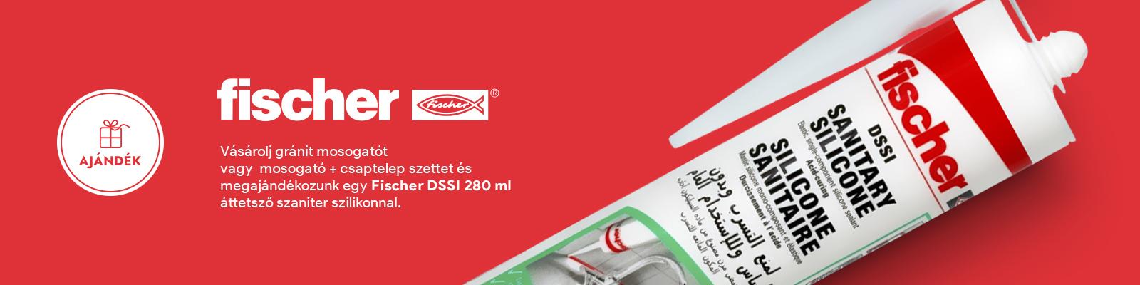Ajándék - Fischer szaniter szilikon DSSI 280 ml áttetsző
